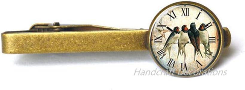 HandcraftDecorations Swallow Tie Clip, Bird Tie Clip,Bird Tie Pin,Bird Jewellery,, Bridesmaids Gift.F246