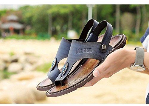 Sommer neue Männer Freizeit Sandalen Faser wasserdicht weichen Boden Dual Use Beach Schuhe, blau, UK = 7,5, EU = 41 1/3