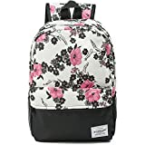 Women Canvas Laptop Backpack Cute School College Shoulder Bag for Teenage Girls