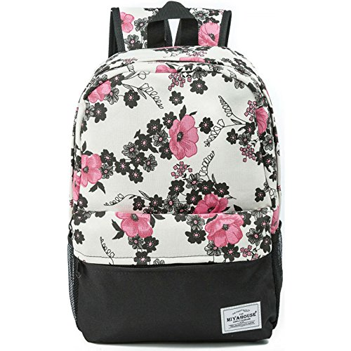 a7a46793da Women Canvas Laptop Backpack Cute School College Shoulder Bag for Teenage  Girls