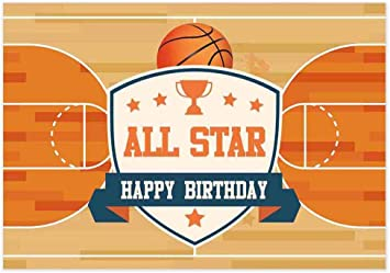 Admirable Amazon Com Allenjoy 7X5Ft Basketball Court Backdrop For Boys Funny Birthday Cards Online Bapapcheapnameinfo