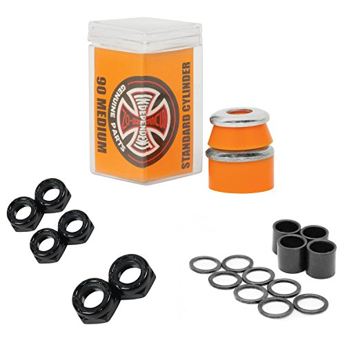 Independent Bushings Cylinder 90a with Dimebag Axle, Kingpin Nuts and Speed Kit