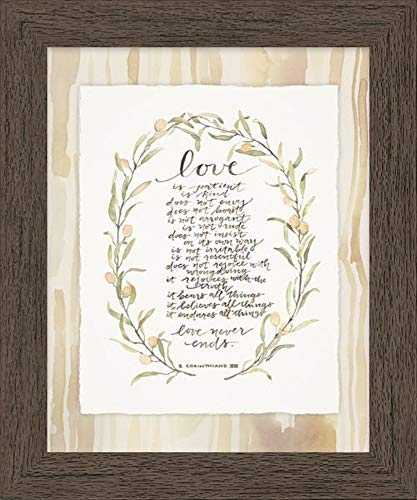 (GraceLaced for Carpentree Collection  20219 Love is Patient Framed Art)