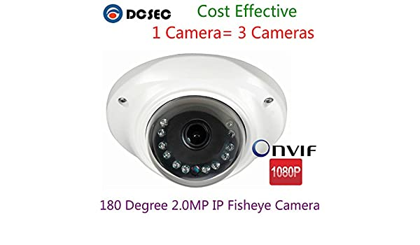 Amazon.com : 2.0MP 1080P 180 Degree Wide Angle Panoramic IP Fisheye lens Mini CCTV Dome Camera de vigilancia : Camera & Photo