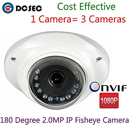 2.0MP 1080P 180 Degree Wide Angle Panoramic IP Fisheye lens Mini CCTV Dome Camera de