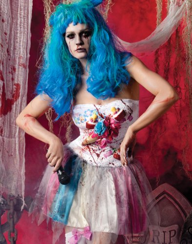 Katy Perry Halloween Costume For Kids (Zombie Candy Girl Katy Perry Undead Fancy Dress Women Gothic Halloween Costume S)