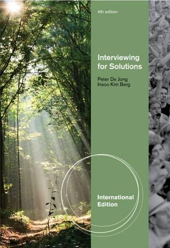 Interviewing for Solutions; International Edition