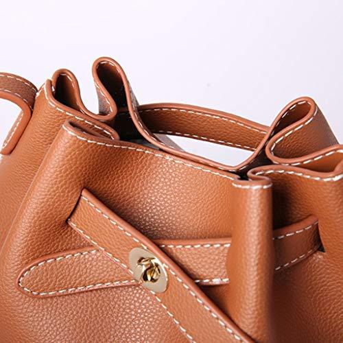 Bagbagjj Secchiello A Semplice Di Diagonale Viaggio Borsa Da Forma Bocca Tracolla Fasci Moda Donna Brown 5Xr7wXqxnC