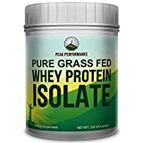 Peak Performance Pure Grass Fed Whey Protein ISOLATE Powder - Unflavored, Soy Free, No Artificial Sweeteners, NO Hormones. Better Alternative To Whey Concentrate