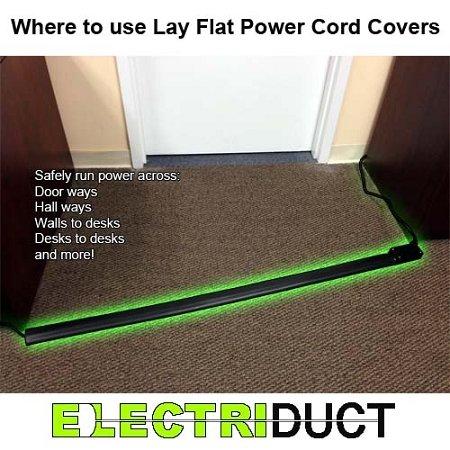 Rubber electrica strip for carpet