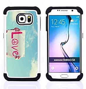 - Love you - - Fulland Deluxe Hybrid TUFF Rugged Shockproof Rubber + Hard Case Cover FOR Samsung Galaxy S6 G9200 Queen Pattern