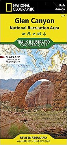 Utah In Usa Map.Glen Canyon National Recreation Area Utah Arizona Usa Trails