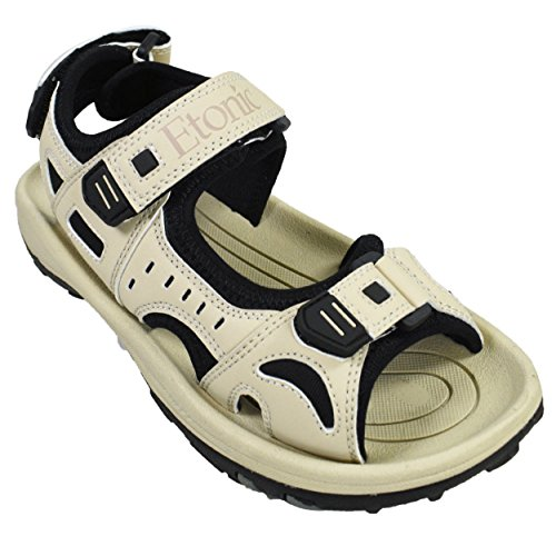 Etonic Ladies Spiked Golf Sandal Tan 9 Medium