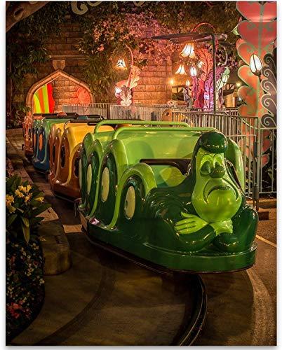 Disneyland Alice Wonderland In - Disneyland Alice in Wonderland Ride - 11x14 Unframed Art Print - Great Gift Under $15 for Disney Lovers