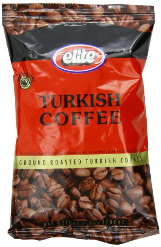 Elite Turkish Ground Roasted Coffee Bag, 3.5000-ounces (Pack of 8)