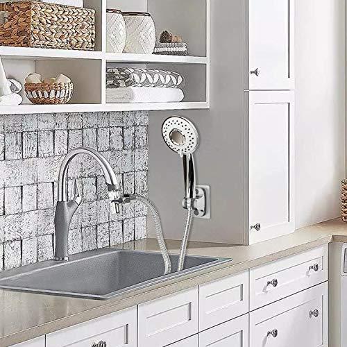 zconiey sink faucet sprayer rinser set faucet hose shower quick connect on kitchen bathroom faucet bath tub spout w 5 feet shower hose for easy