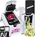 [3in1] Spiralizer Vegetable Slicer Adjustable Mandoline Slicer...