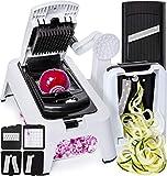 Best Vegetable Slicers - [3in1]Spiralizer Vegetable Slicer Adjustable Mandoline Slicer Vegetable Chopper Review