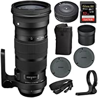 Sigma NEW SIGMA 120-300mm F2.8 DG OS HSM Telephoto Zoom Lens for Nikon (137-306) with Sigma USB Dock for Nikon Lens & SanDisk 32GB Extreme SD Memory UHS-I Card with 90/60MB/s Read/Write