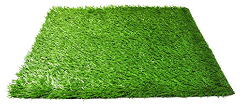 Pet Dog Pee Turf Replacement for Bathroom Relief System, Weather Proof, Synthetic Grass, Housebreaking, Portable, Easy Clean, Non-Toxic, Perfect for Indoor and Outdoor (20 x 25 Inch) (Replacement Pee Pad Grass)
