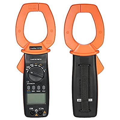 KKmoon Handheld Digital Clamp Meter Multimeter AC/DC Voltage 2000A Current Portable LCD Display Auto-ranging Test Capacitance Resistance Frequency Diode Hz Duty Cycle Tester