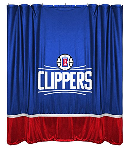 NBA Los Angeles Clippers Shower Curtain 72 X Bright Blue