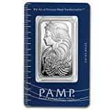 PAMP Fortuna Design 1 ounce silver ingot