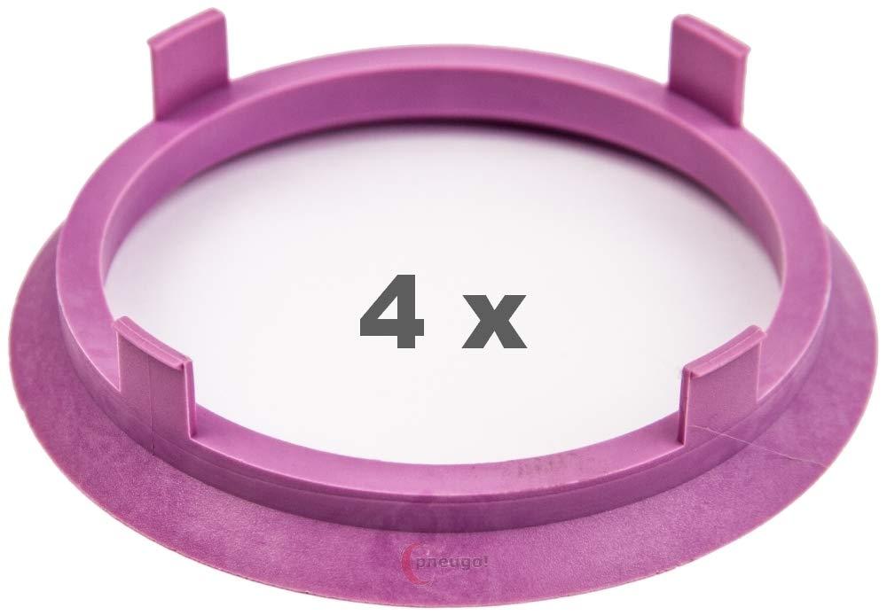 4 x anelli di centraggio da 71, 6 mm a 63, 4 mm viola (71, 6 mm a 63, 4 mm). Pneugo