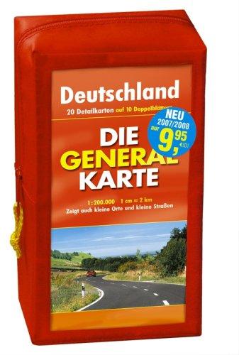 Price comparison product image Generalkarte Deutschland Pocket-Set. GPS-tauglich. (Maßstab: 1:200000): 10 Doppelkarten