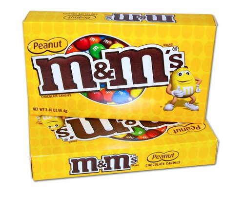 M&M's Concession Box - Peanut (Pack of 12) by M&M's