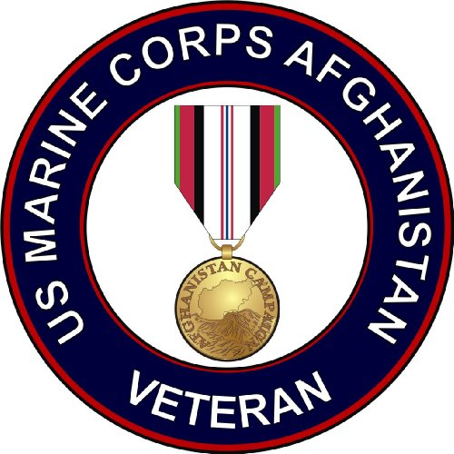 US Marine Corps Afghanistan Veteran Decal Sticker 5.5
