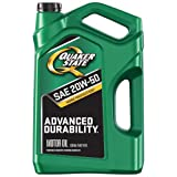 quaker motor oil - Quaker State 550044960 Advanced Durability 20W-50 Motor Oil (SN, 5qt Jug), 5 quart