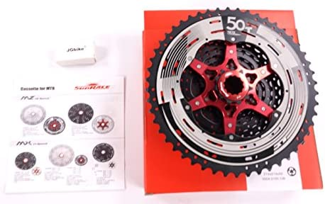 Sunrace Csmz90 11-50t 12 Speed Wide Ratio Mountain Bike Mtb Cassette Silver New Reliable Performance Cycling