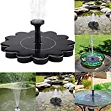 Transer Solar Bird Bath Fountain Pump for Garden and Patio, Free Standing 1.4W Solar Panel Kit Water Pump, Outdoor Watering Submersible Pump (Birdbath & Stand Not Included) (Black)