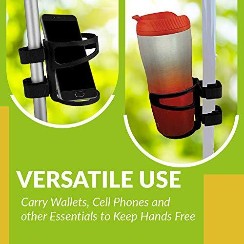 Universal Drinking Cup Holder No Screws Required Adjustable for Any Kind of Strollers, Walkers, Bicycles, Wheelchairs, Bed railings and Even on a Drumset | Drink Walker Cup Holder, Bottle Holder by BodyHealt (Image #6)