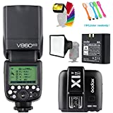 Godox V860II-S High-Speed Sync GN60 2.4G TTL Li-ion Battery Camera Flash Speedlite+X1T-S Wireless Trigger Transmitter for Sony Camera +15x17cm softbox & Filter +USB LED Free gift