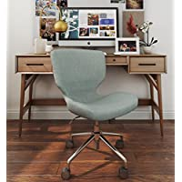 ELLE Décor Madeline Hourglass Task Chair in French Light Gray