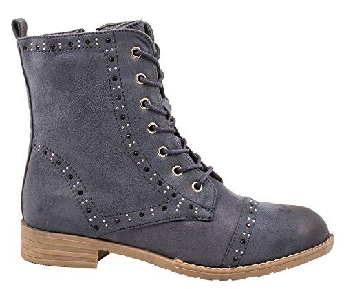 Elara Women's Boots black black Blue NOzIGSHkLg