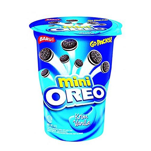 Oreo Mini Sandwich Cookies Stuffed With Vanilla Cream 67g, 4 Count -