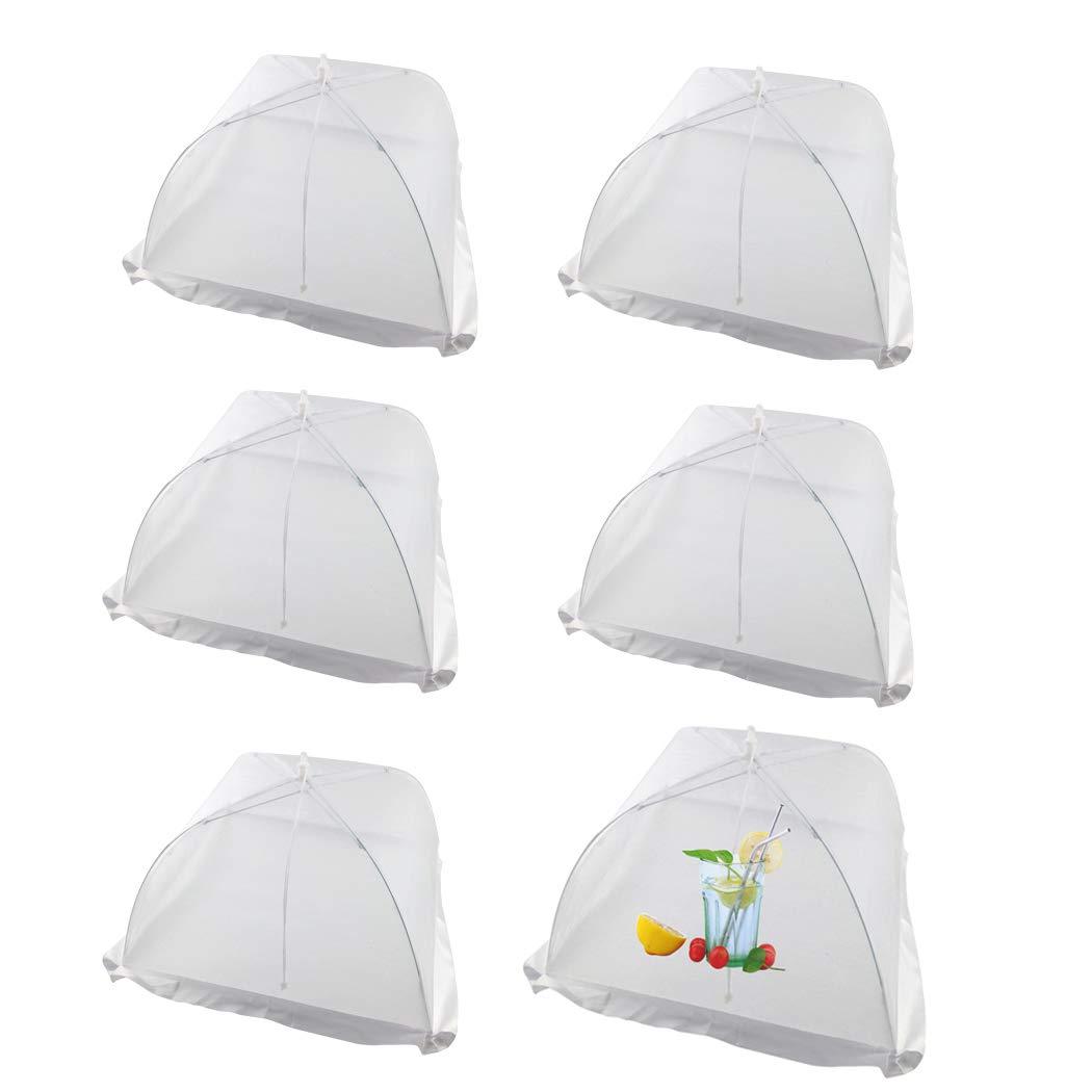4 Stück Pop-Up Fliegenhaube, Lebensmittel Abdeckung Zelt für Speisen, Speiseschirm, Insektenschutzhaube für Küche & Draußen Netzschutz Taschenschirm Vermeiden Fliegen, Bugs, Mosquitos weiß Mosquitos weiß