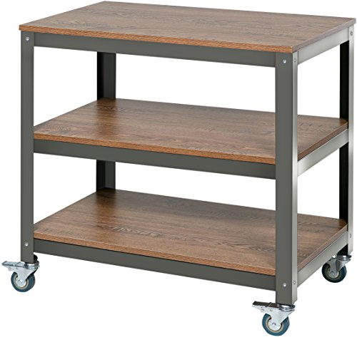OneSpace Loft Companion Shelf with Steel Frame, Wood Surface