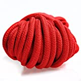 KissyBody [Pack of 2] 32-foot 10m Long Soft Cotton Rope (Black, Red)