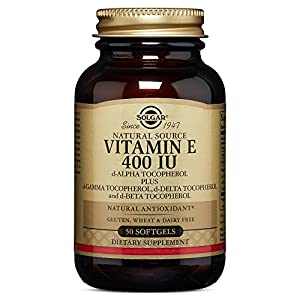 Solgar Vitamin E 400 IU (d Alpha Tocopherol & Mixed Tocopherols) 50 Mixed Softgels