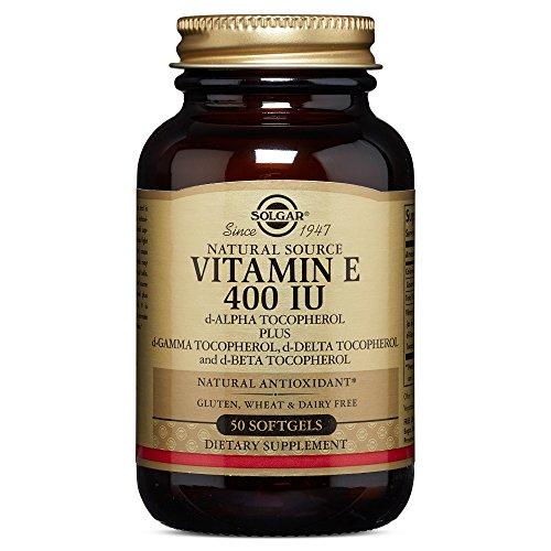 Solgar Vitamin E 400 IU (d Alpha Tocopherol & Mixed Tocopherols) 50 Mixed Softgels