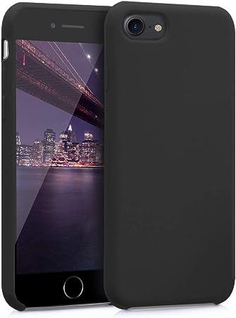 Kwmobile Hülle Kompatibel Mit Apple Iphone 7 8 Se 2020 Handyhülle Gummiert Handy Case In Schwarz Matt Elektronik