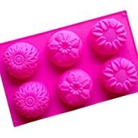 Sungpunet Chrysanthemum Sunflower Mixed Flower Shapes Handmade soap Silicone Moulds
