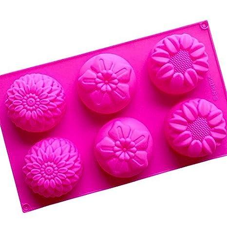nicebuty crisantemo girasol mezcla hecha a mano de flores de jabón Moldes de silicona: Amazon.es: Hogar