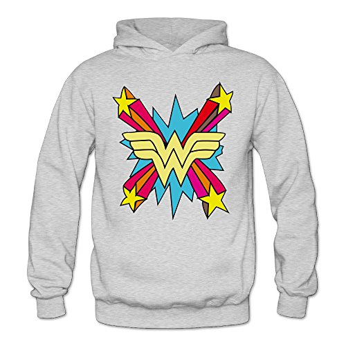 MARC Women's Colorful Wonder Logo Sweatshirt Ash Size XXL