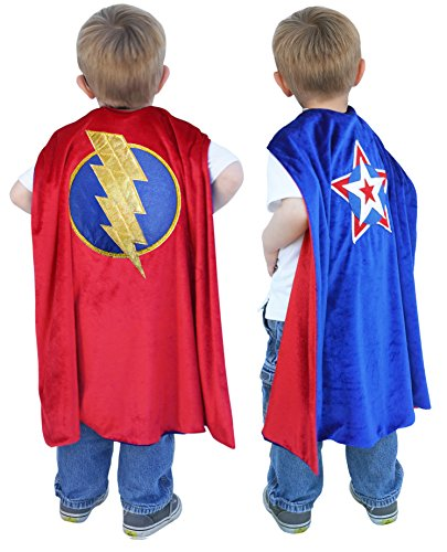 Make Your Costume Superhero Own Easy (Little Pretends Reversible Superhero Cape - WELL MADE & LONG)