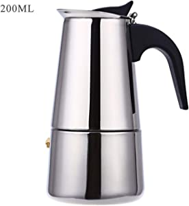 Uheng Coffee Stovetop Espresso Maker Stainless Steel, Moka Stove Pot, Percolator Carafe Coffee Maker for 4 Cups (200 ml)
